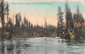 Payette Lakes Idaho Weiser River Scenic View Antique Postcard K29094