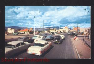 ALBUQUERQUE NEW MEXICO ROUTE 66 1955 OLDSMOBILE CARS STREET SCENE OLD POSTCARD