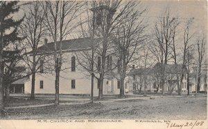 G61/ Kendall New York Postcard 1908 M.E. Church And Parsonage