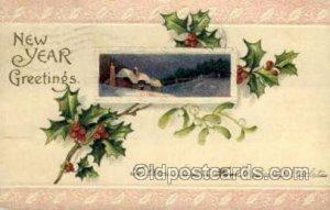 New Year 1907 small tear top edge, minor corner wear, postal used unknown, li...