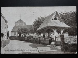 Sussex: Bexhill-on-Sea, St. Peter's Church & Lychgate c1921