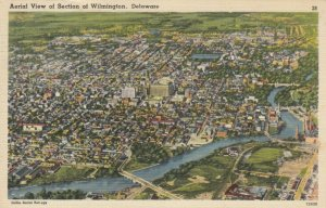 Aerial View of Section of WILMINGTON , Delaware, 30-40s