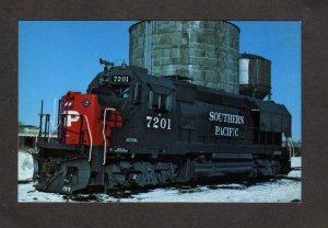 Sothern Pacific Railroad Train Locomotive 7201on Rock Island Postcard Railway