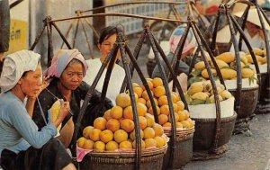 Produce Market SAIGON Street Scene VIETNAM Don Ganh c1960s Vintage Postcard