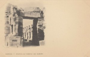 LUXOR , EGYPT , 1901-07 : Karnak - Statue et Temple De Ramses