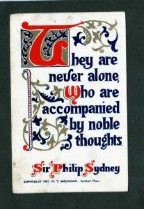 Vintage Sheahan's Good Mottos Verse Poem Postcard Sheahan Sir Philip Sydney