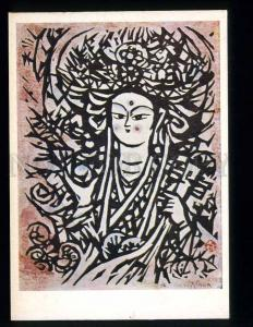 227456 JAPAN Kihey Sasadzima goddess Benten old postcard