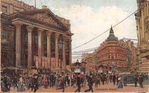 London, Mansion House, Animated, Carriages 1906