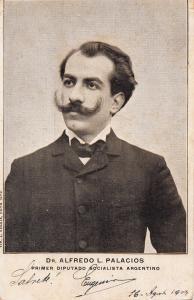 Doctor Alfredo Palacios first Argentino Socialist Deputy Teacher 1900s postcard