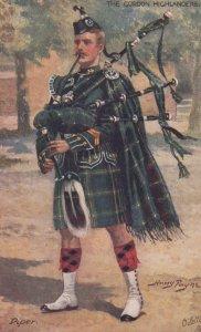 SCOTLAND , 00-10s ; Gordon Highlanders , Piper ; Harry Payne ; TUCK 9762