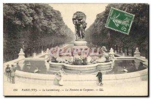 Postcard The Old Paris Luxumbourg Fountain Carpeaux