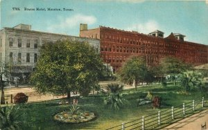 Brazos Hotel Houston Texas roadside #7788 HTTCO 1915 Postcard 20-5675
