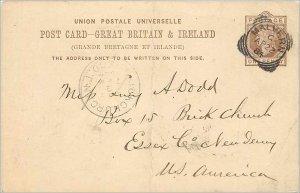 Entier Postal Stationery Postal Great Britain Great Britain 1884 Malvern to E...