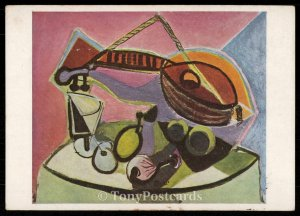 Still Life and Guitar - Pablo Picasso