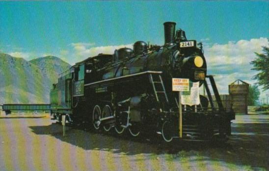 Canada Old CNR Train Kamloops Riverside Park Kamloops British Columbia