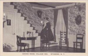 New York Wyoming Dining Room Village Inn Albertype