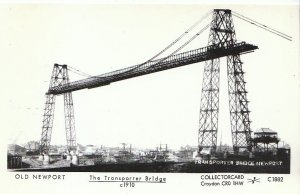 Wales Postcard - Old Newport - The Transporter Bridge c1910  - 2208