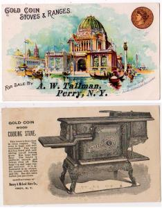 1893 Worlds Fair, Gold Coin Stoves & Ranges, Perry NY
