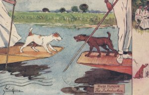 TUCK RIVER HUMOUR, The Introduction, Dogs on rafts, PU-1915