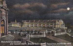 Manufacturers Building and Cascade Basin Alaska-Yukon-Pacific Exposition Seat...
