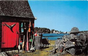 Lobster Buoys & Pots in Bailey Island, Maine