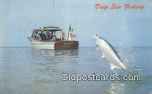 Deep Sea Fishing  Postcard Post Cards Old Vintage Antique Postcard, Post Card...