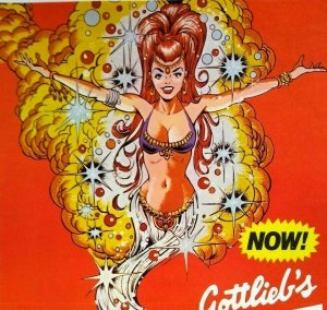 Genie Pinball Machine FLYER Original Gottlieb 1979 Arabian Magic Sexy Women Art