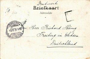 PC CPA SURINAME JAAVANSCHE IMIGRANTEN, Vintage Postcard (B415)