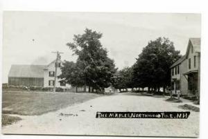Northwood NH Dirt Street View RPPC Postcard