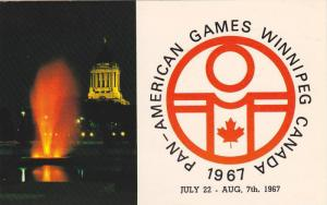 1967 Pan- American Games City,  Winnipeg,  Manitoba,  Canada,  PU_1967