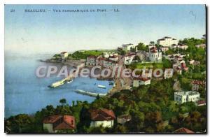 Old Postcard Beaulieu Sur Mer Panoramic Du Port