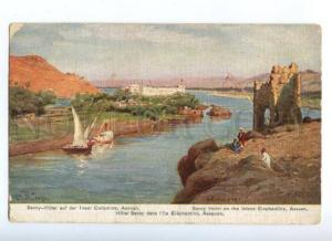 171883 EGYPT Savoy Hotel on island Elephantine Assuan Vintage