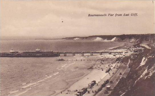 Bournemouth Pier From East Cliff, Dorset, England, UK, 1900-1910s