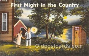 First Night in the Country  Postcard Post Card  First Night in the Country