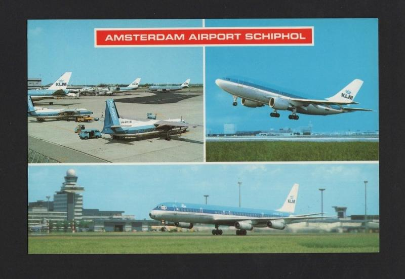 pc AMSTERDAM AIRPORT AIRPLANES DC-8 AIRBUS FOKKER F-27 KLM AIRCRAFTS HOLLAND z1