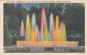 Pennsylvania Kennett Square Fountains At Open Air Theatre Longwood Gardens Cu...