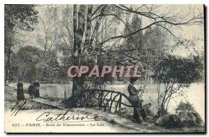Postcard Old Paris Bois de Vincennes Lake