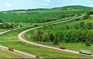 Pennsylvania Turnpike Sweeping Curve On I-80 The Keystone Shortway