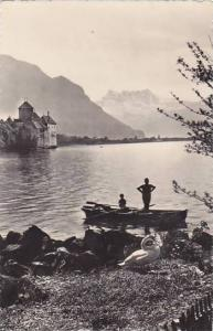 Schweiz Chateau de Chillon et Dents du Midi