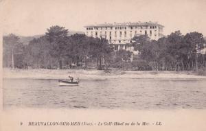 Beauvallon Golf Hotel Garten Valence De La Mer Old Postcard