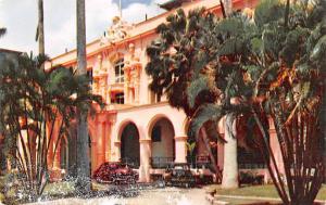 Panama Old Vintage Antique Post Card Hotel Washington Colon Unused