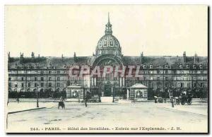 Old Postcard Paris Hotel des Invalides Entree on the Esplanade