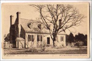 VA - Westmoreland County. Wakefield, Birthplace of George Washington