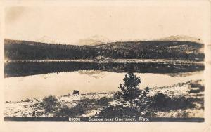 Guernsey Wyoming Scenic Waterfront Real Photo Antique Postcard K77846