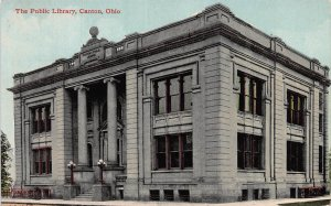 The Public Library, Canton, Ohio, Early Postcard, Unused