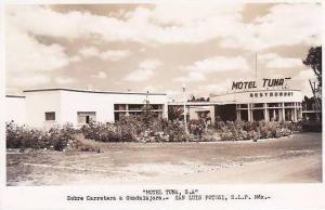 Mexico San Luis Potosi Motel Tuna Restaurant Real Photo RPPC