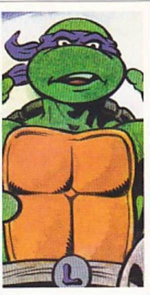 Brooke Bond Tea Trade Card Teenage Mutant Hero Turtles 1990 No 5 Leonardo