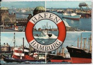 Hamburg Harbor - Post Card - Unused