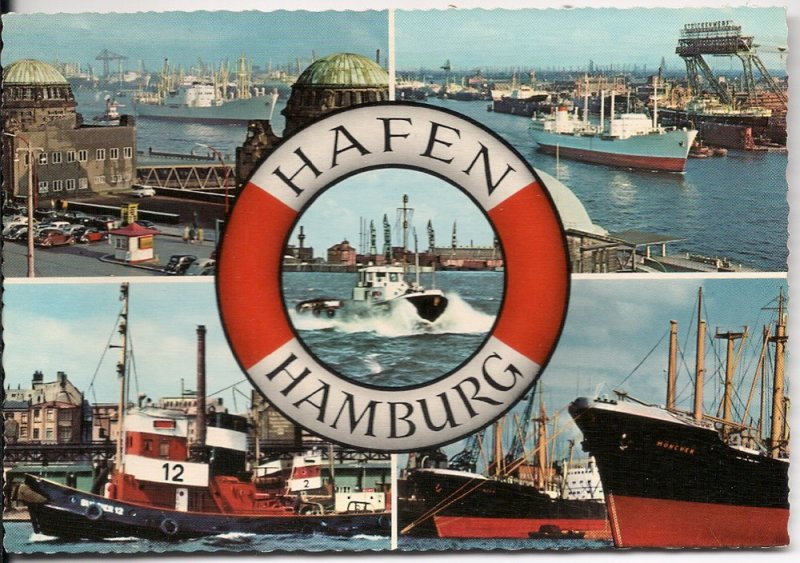 Hamburg Harbor - Post Card - Unused