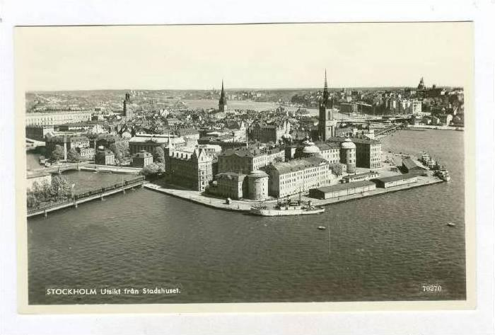 RP: STOCKHOLM Utsikt fran Stadshuset, Sweden, 20-40s